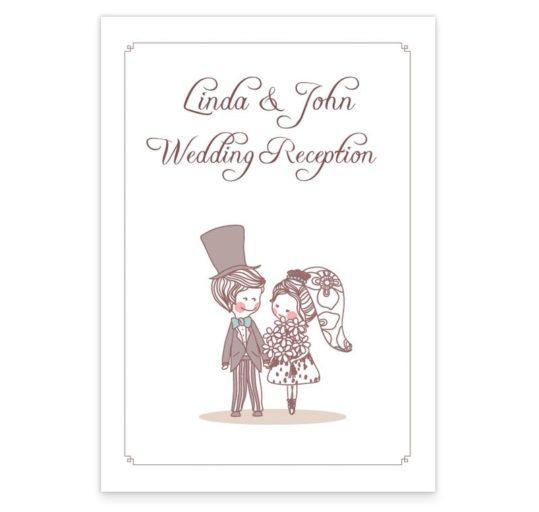 Cute Couple Wedding Menus
