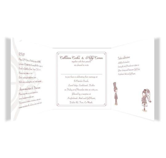 Cute Couple Tri-fold Wedding Invite